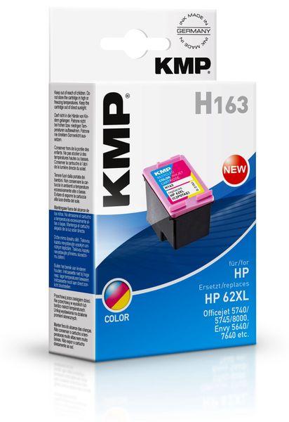 Tintenpatrone KMP, kompatibel für HP 62XL (C2P07AE), color