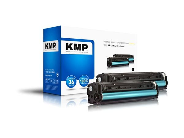 Toner KMP T-171D, kompatibel für HP 131X, schwarz, 2 Stück