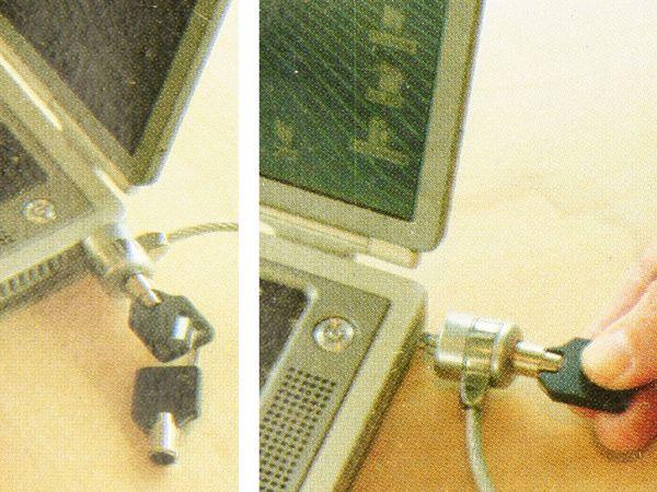Laptop-Diebstahlsicherung mit Schlüsseln - Produktbild 2