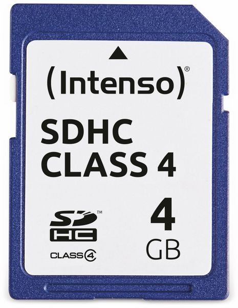 SDHC Card INTENSO, 4 GB, Class 4