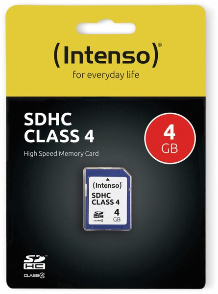 SDHC Card INTENSO, 4 GB, Class 4 - Produktbild 2