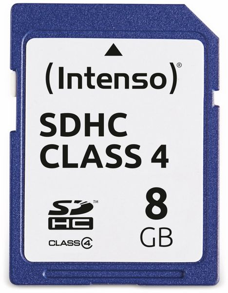 SDHC Card INTENSO, 8 GB, Class 4