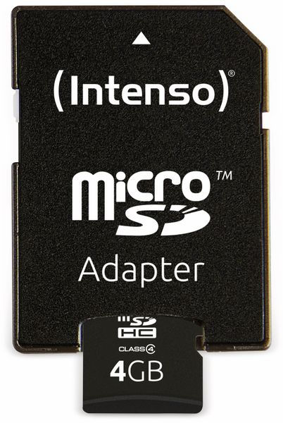 MicroSDHC Card, 4 GB, INTENSO - Produktbild 4