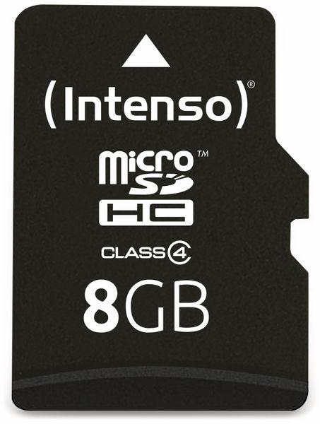 MicroSDHC Card, 8 GB, INTENSO