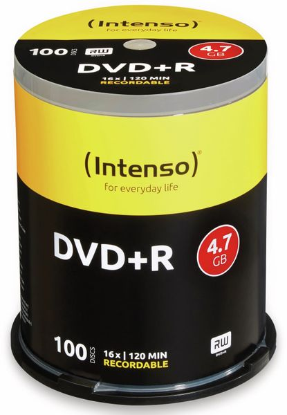 DVD+R Spindel Intenso, 100 Stück