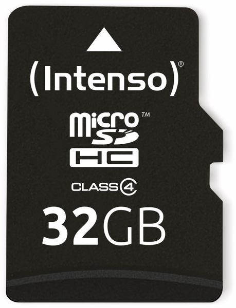 MicroSDHC Card, 32 GB, CLASS 4, INTENSO - Produktbild 1