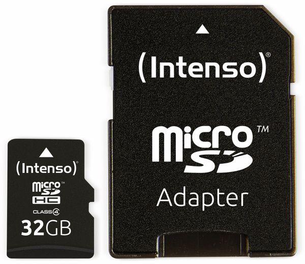 MicroSDHC Card, 32 GB, CLASS 4, INTENSO - Produktbild 3