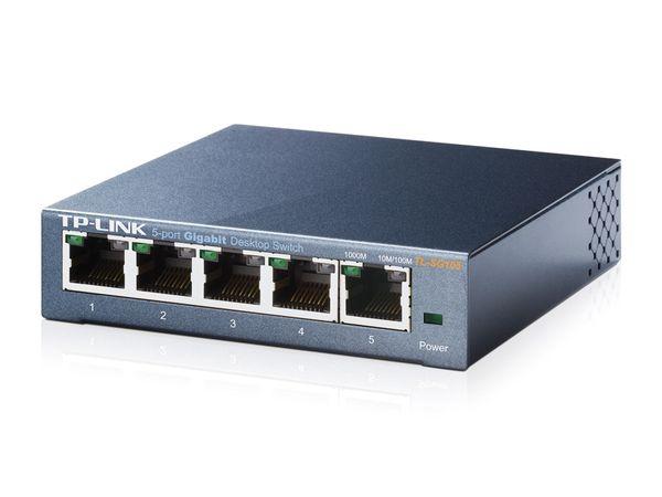 Gigabit Netzwerk Switch TP-LINK TL-SG105, 5-Port, bis 1000 Mbit/S, Metall - Produktbild 2