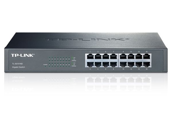 Gigabit Netzwerk-Switch TP-LINK TL-SG1016D, 16-Port