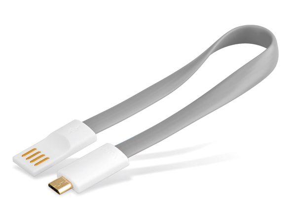 USB 2.0 Kabel USB-A/Micro-USB, 0,2 m, grau - Produktbild 2