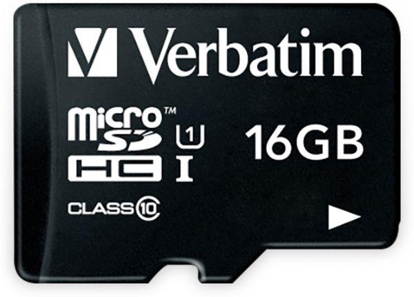 MicroSDHC Card VERBATIM 44010, 16 GB