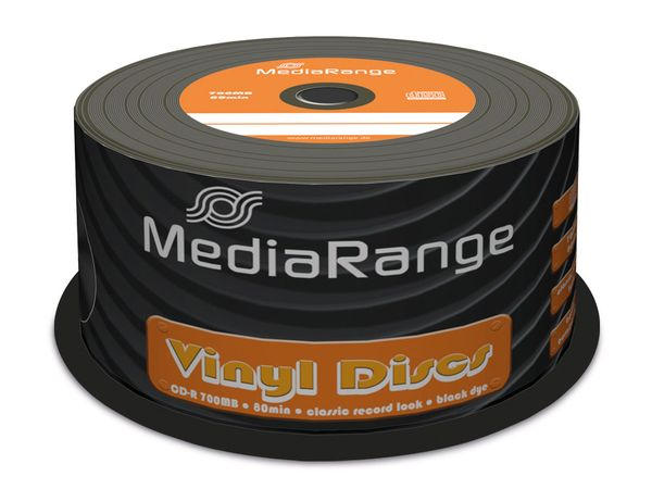 CD-R Spindel MediaRange, Vinyl-Optik