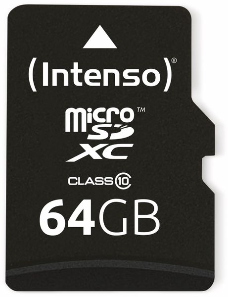 MicroSDXC Card INTENSO 3413490, 64 GB