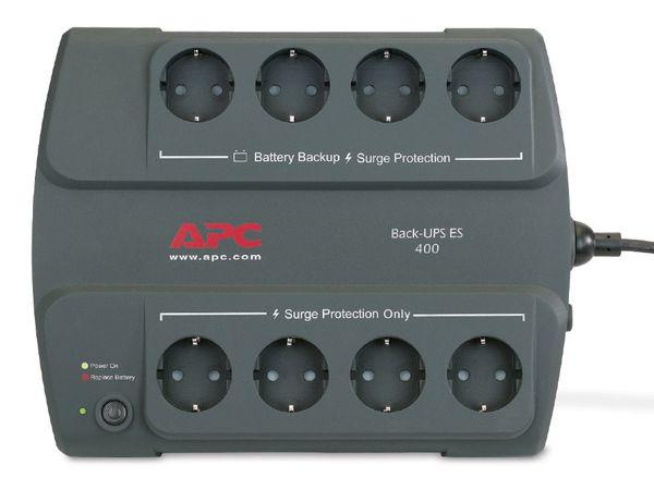 USV APC BE400-GR, 400VA, 8 Steckdosen - Produktbild 2