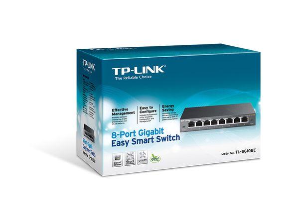Gigabit Netzwerk-Switch TP-LINK TL-SG108E, 8-Port - Produktbild 4