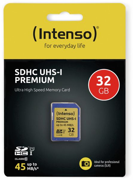 SDHC Card INTENSO 3421480, 32 GB, Class 10, UHS-I - Produktbild 2