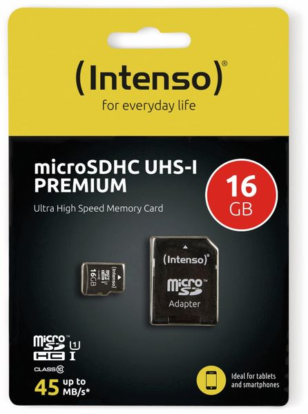 MicroSDHC Card INTENSO 3423470, UHS-I, 16 GB - Produktbild 2