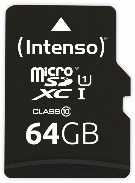 MicroSDXC Card INTENSO 3423490, UHS-I, 64 GB