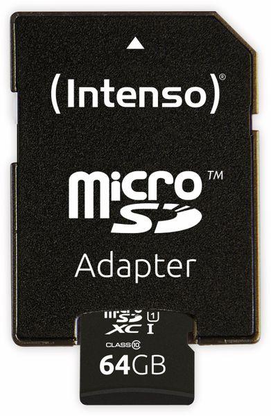 MicroSDXC Card INTENSO 3423490, UHS-I, 64 GB - Produktbild 4
