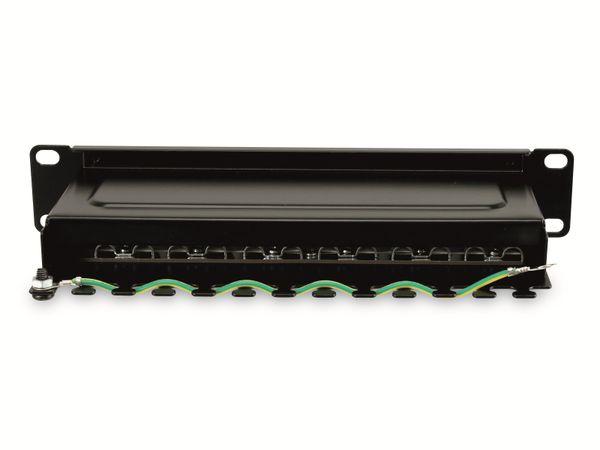 """CAT.6 Patchpanel RED4POWER R4-N105S, 12-fach, 10"""", schwarz - Produktbild 4"""