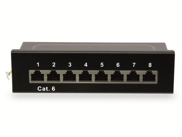 CAT.6 Patchpanel RED4POWER R4-N108S, 8-fach, schwarz - Produktbild 3