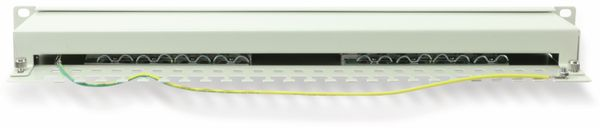"CAT.6 Patchpanel RED4POWER R4-N117G, 16-fach, 19"", grau - Produktbild 2"