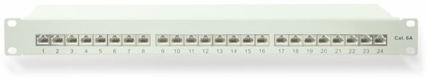 """CAT.6a Patchpanel RED4POWER R4-N119G, 24-fach, 19"""", grau"""