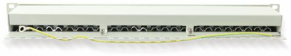 "CAT.6a Patchpanel RED4POWER R4-N119G, 24-fach, 19"", grau - Produktbild 2"