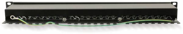 """CAT.6a Patchpanel RED4POWER R4-N119S, 24-fach, 19"""", schwarz - Produktbild 2"""