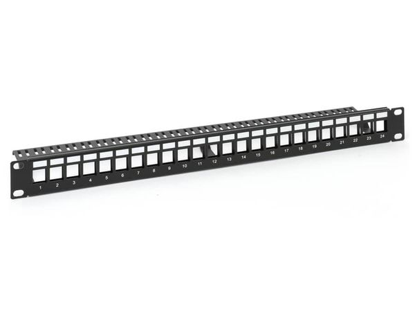 "Patchpanel Red4Power KPP-19-24-E, 19"", 24-port - Produktbild 1"