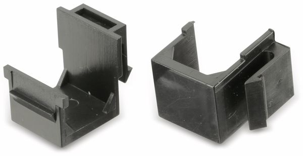 Abdeckung Red4Power KM-AU-S, schwarz, 4 Stück - Produktbild 1