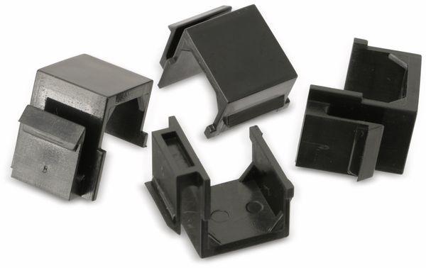 Abdeckung Red4Power KM-AU-S, schwarz, 4 Stück - Produktbild 4