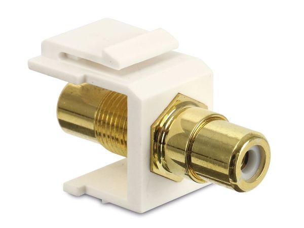 Einbau-Modul Red4Power KM-CCW-W, Cinch (weiß), weiß - Produktbild 1