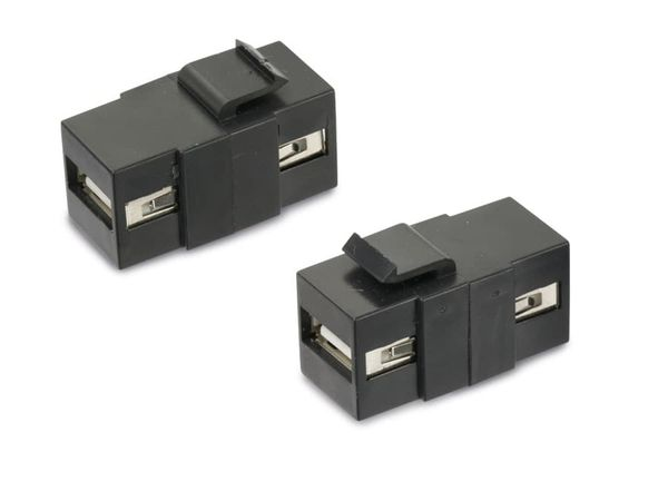 Einbau-Modul Red4Power KM-UU-S, USB-A, schwarz