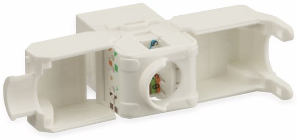Einbau-Modul Red4Power KM-C6U-W, CAT.6, weiß - Produktbild 3