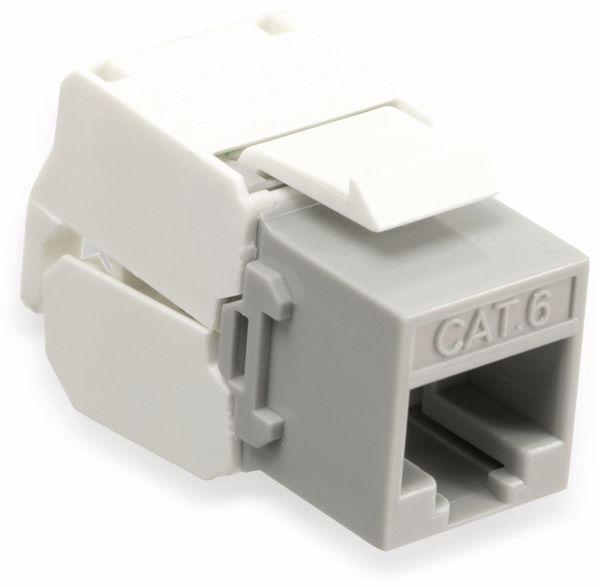 Einbau-Modul Red4Power KM-C6U-G, CAT.6, grau