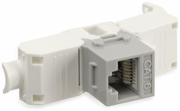 Einbau-Modul Red4Power KM-C6U-G, CAT.6, grau - Produktbild 4