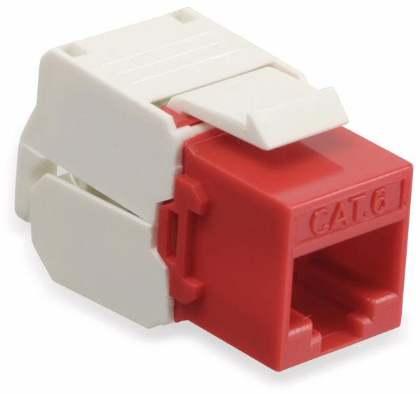 Einbau-Modul Red4Power KM-C6U-R, CAT.6, rot - Produktbild 1