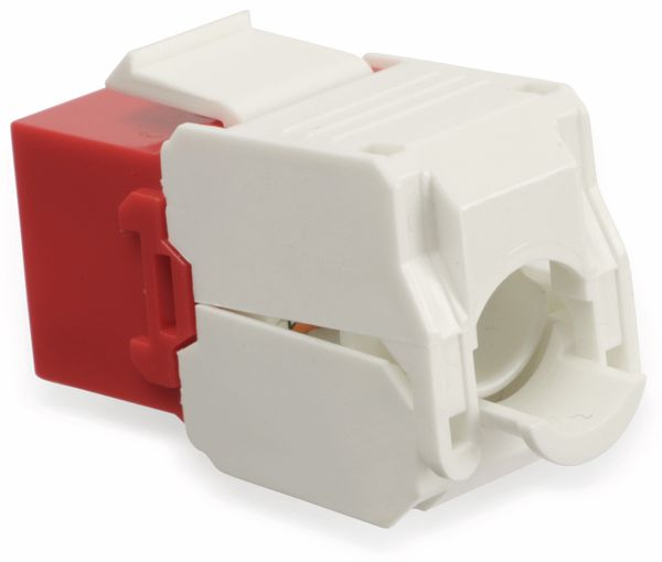 Einbau-Modul Red4Power KM-C6U-R, CAT.6, rot - Produktbild 2