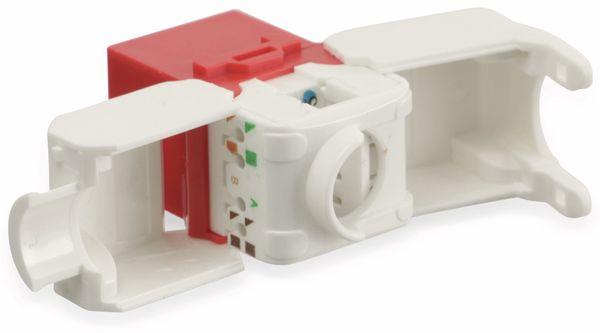 Einbau-Modul Red4Power KM-C6U-R, CAT.6, rot - Produktbild 3