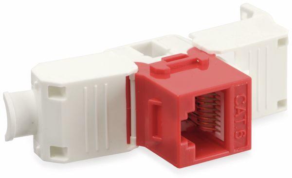 Einbau-Modul Red4Power KM-C6U-R, CAT.6, rot - Produktbild 4