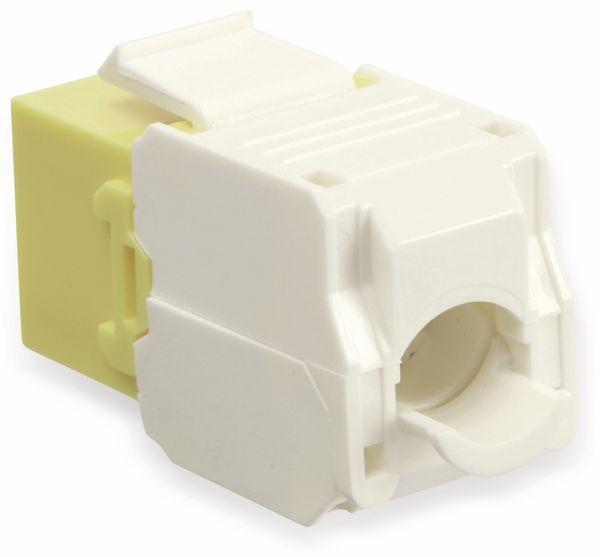 Einbau-Modul Red4Power KM-C6U-Y, CAT.6, gelb - Produktbild 2