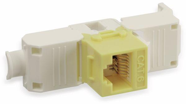 Einbau-Modul Red4Power KM-C6U-Y, CAT.6, gelb - Produktbild 4