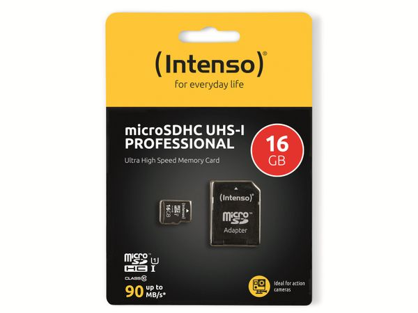 microSDHC Card INTENSO 3433470, 16 GB - Produktbild 2