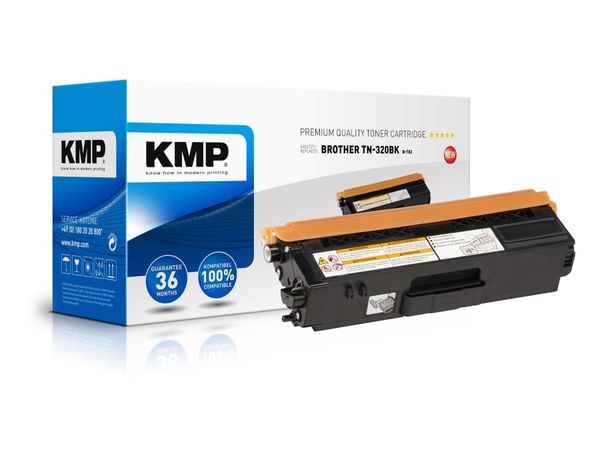 Toner KMP, kompatibel für Brother TN-320BK, schwarz
