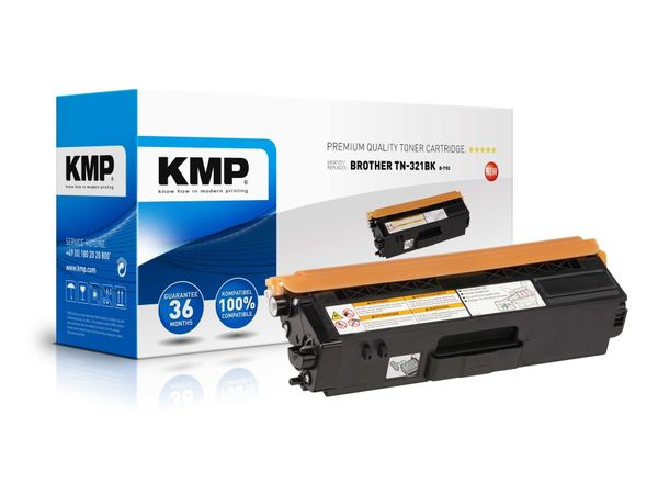 Toner KMP, kompatibel für Brother TN-321BK, schwarz