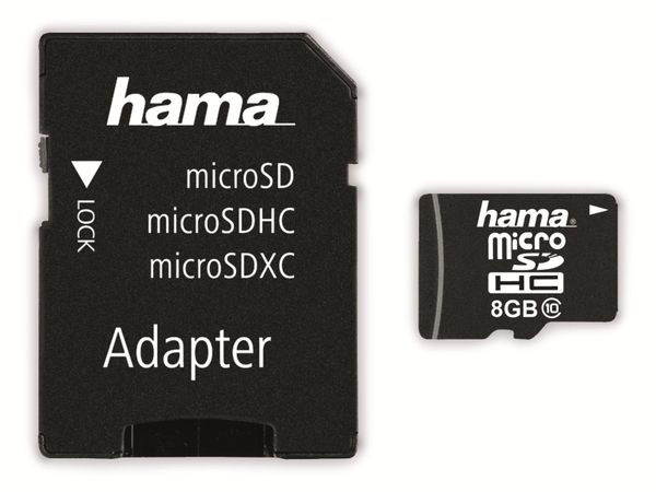MicroSDHC Card HAMA 108087, 8 GB