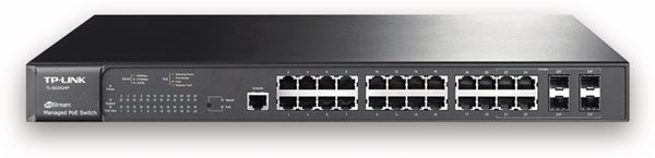 Switch TP-LINK JetStream T2600G-28MPS (TL-SG3424P), 24-port, Gigabit