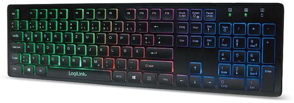 USB-Tastatur beleuchtet LogiLink ID0138, schwarz - Produktbild 2