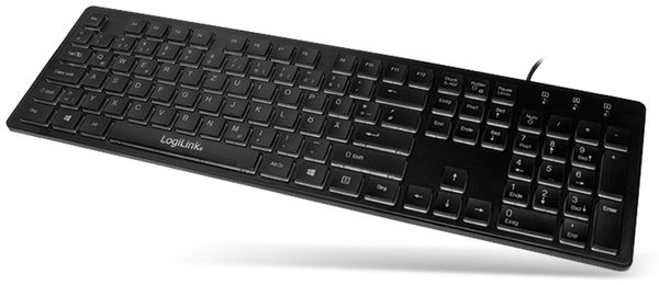 USB-Tastatur beleuchtet LogiLink ID0138, schwarz - Produktbild 3